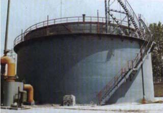 山东石横特钢厂5000立方煤气柜制作安装工程